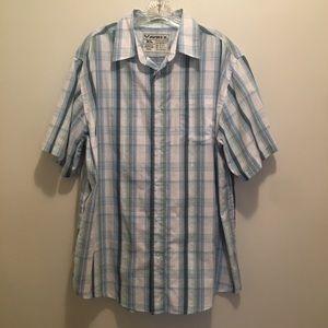 4/$25 Avirex Short Sleeve Button Down Plaid Shirt